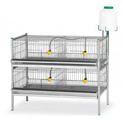 Cușcă de prepeliță - 2 etaje