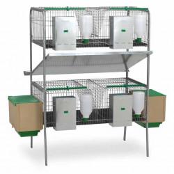 Stilou Gaun Cage pentru iepuri Laguna - două etaje, 4 stilouri