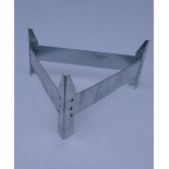 AGROFORTEL Alimentator de tuburi zincat - 18 kg - picioare