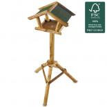 Alimentator de păsări din lemn Fermă de păsări II.