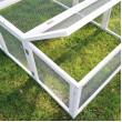 Carcasă din lemn pentru iepuri - albă