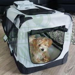 Cușcă de transport pentru câine sau pisică | dimensiune M, gri