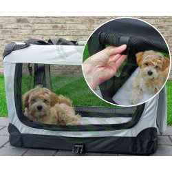 Cușcă de transport pentru câine sau pisică | dimensiune L, gri