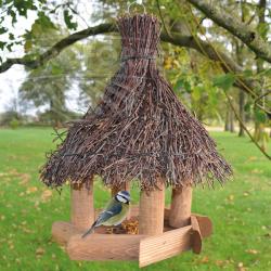 Alimentator de păsări din lemn Sweet home